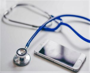 Stethoscope and smartphone